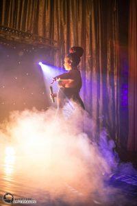 Shorrel Jade singing with smoke