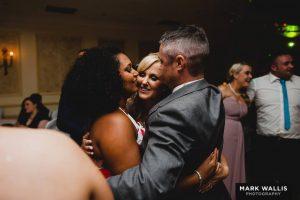 Couple hug wedding